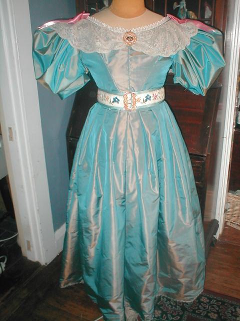 1830s dress-in-progress