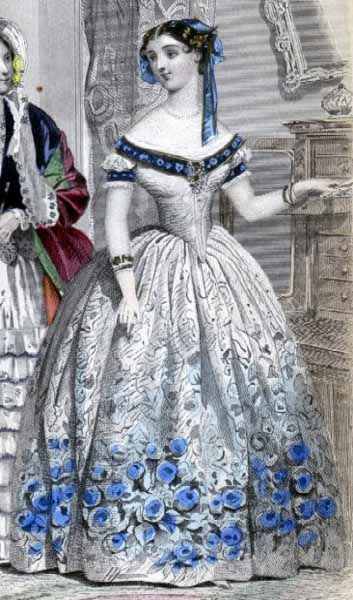 1860s Evening Dress Fashions For The Ballroom Vintage Victorian