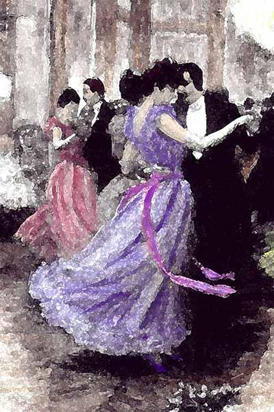 1890s ball scene
