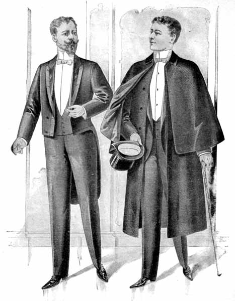"""5d21274783ce Gentlemen's evening dress of the 1890s is fairly similar to modern formal  wear: black tail coat (the """"recently"""" invented tuxedo jacket is also an  acceptable ..."""