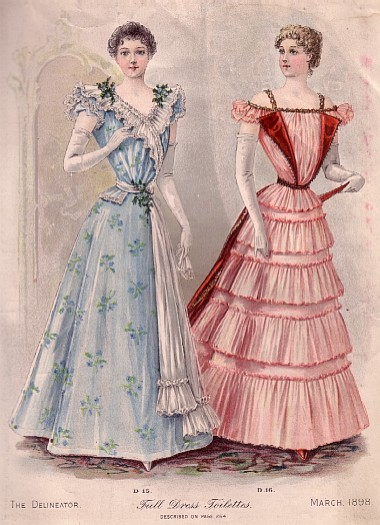 Vv 1890s Evening Dress Fashions