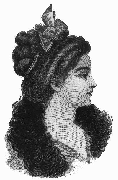 victorian hairstyle. Vintage Victorian -- Nahant