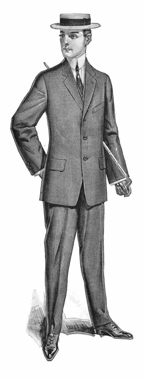Mens fashion circa 1912 dress