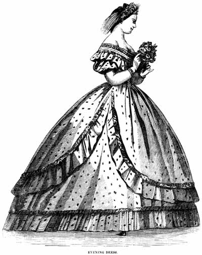 1860s Evening Dress Fashions Descriptions And Fashion Plates