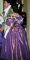 1830 Ball Dress, purple silk taffeta, worn by Katy in Vienna 2005