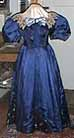 1893 ball dress, blue silk satin and bamboo brocade, Katy's CVD performing gown